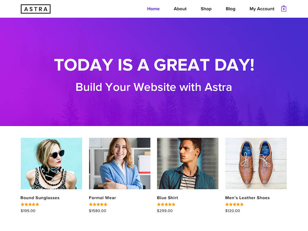 astra theme best free theme for elementor
