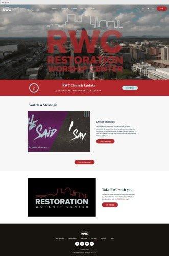restoration worship center - neonwiz portfolio